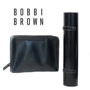 Bobbi Brown Blk Faux Leather Makeup And Brush Case